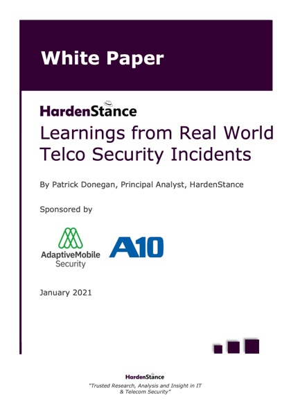 White Paper: Learnings from real world telco security incidents white paper by AdaptiveMobile Security and HardenStance